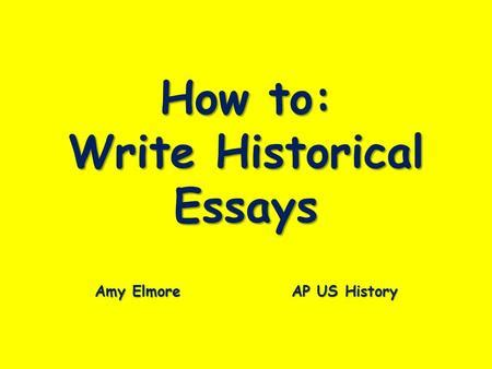 How to write a good dbq thesis